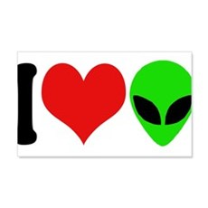 I Love Aliens (design) 22x14 Wall Peel