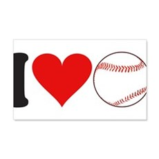 I Love Baseball (design) 22x14 Wall Peel