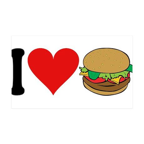 I Love Hamburgers (design) 38.5 x 24.5 Wall Peel