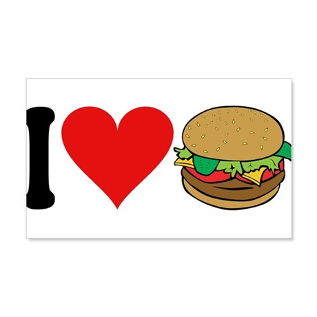 I Love Hamburgers (design) 22x14 Wall Peel