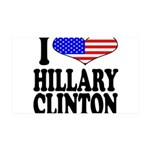 I Love Hillary Clinton 38.5 x 24.5 Wall Peel