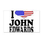 I Love John Edwards 22x14 Wall Peel