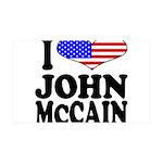 I Love John McCain 38.5 x 24.5 Wall Peel