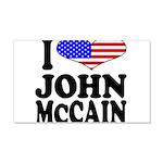 I Love John McCain 22x14 Wall Peel