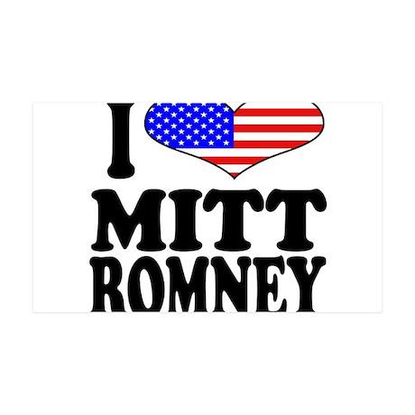 I Love Mitt Romney 38.5 x 24.5 Wall Peel