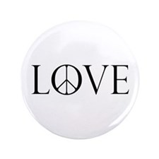 "Love Peace Sign 3.5"" Button"