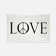 Love Peace Sign Rectangle Magnet (100 pack)