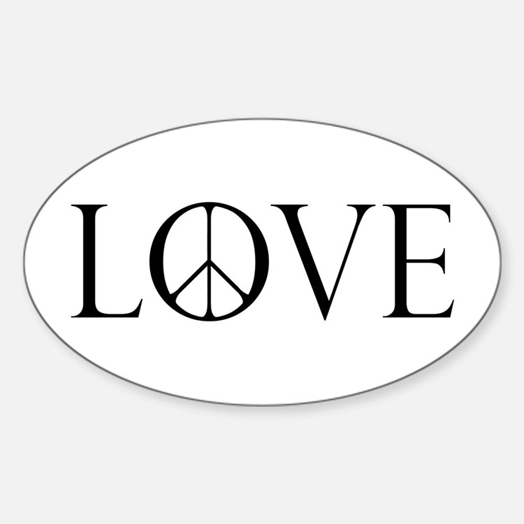 Love Peace Sign Decal