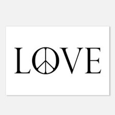 Love Peace Sign Postcards (Package of 8)