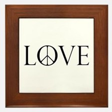 Love Peace Sign Framed Tile