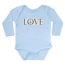 Love Peace Sign Long Sleeve Infant Bodysuit