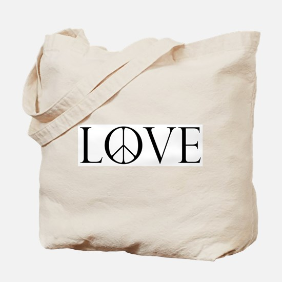 Love Peace Sign Tote Bag