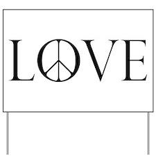 Love Peace Sign Yard Sign