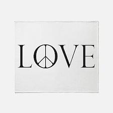 Love Peace Sign Throw Blanket