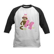 Sock Monkey Monogram Girl M Tee
