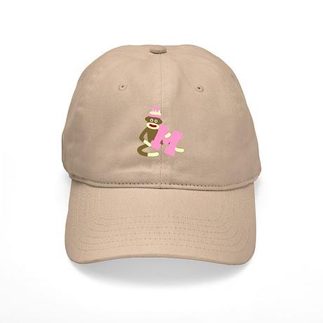 Sock Monkey Monogram Girl M Cap