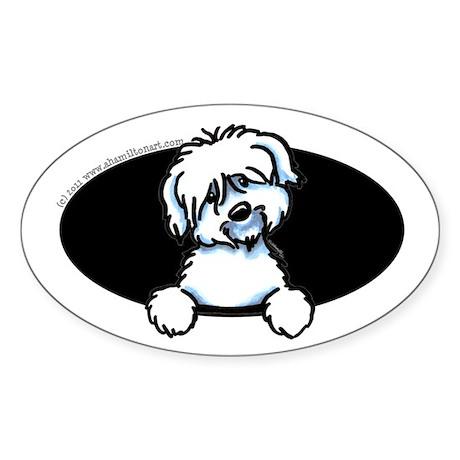 Coton de Tulear Funny Sticker (Oval)