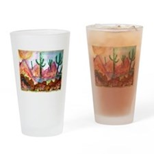 Colorful, Desert, art, Drinking Glass