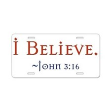 Cute Jesus quotes Aluminum License Plate