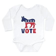 Democrat Vote 2 Long Sleeve Infant Bodysuit