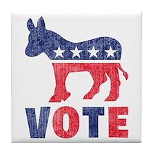 Democrat Vote 2 Tile Coaster