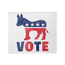 Democrat Vote 2 Throw Blanket