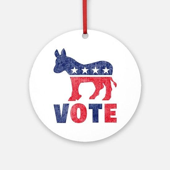 Democrat Vote 2 Ornament (Round)