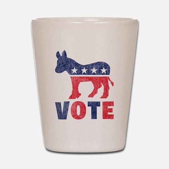 Democrat Vote 2 Shot Glass