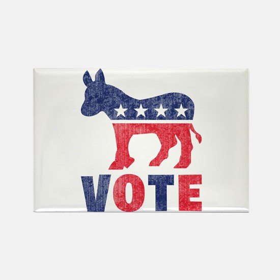 Democrat Vote 2 Rectangle Magnet