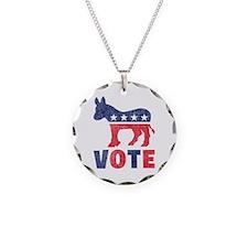 Democrat Vote 2 Necklace