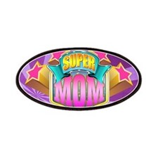 Pink Super Mom Patches
