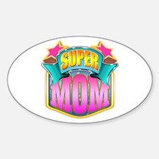 Pink Super Mom Decal