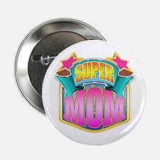 "Pink Super Mom 2.25"" Button"