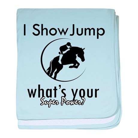 I Show Jump baby blanket