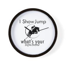 I Show Jump Wall Clock