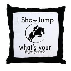 I Show Jump Throw Pillow