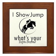 I Show Jump Framed Tile