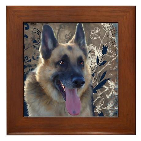 German Shepherd Framed Tile