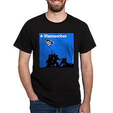 iRemember Iwo Jima Memorial Black T-Shirt