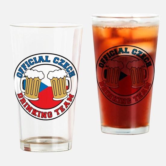 Official Czech Drinking Team Drinking Glass