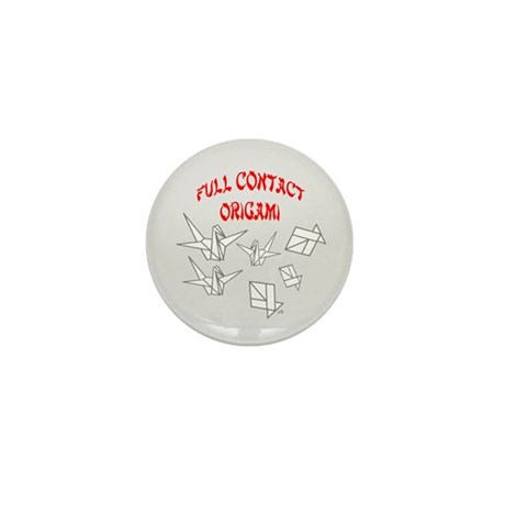Full Contact Origami-Gry Mini Button (10 pack)