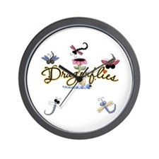 I Love Dragonflies Wall Clock