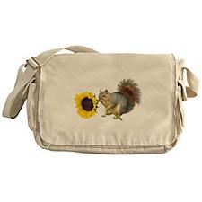 Squirrel Sunflower Messenger Bag