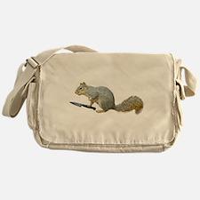 Squirrel with Knife Messenger Bag