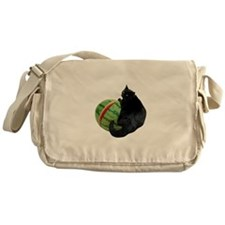 Cat with Watermelon Messenger Bag