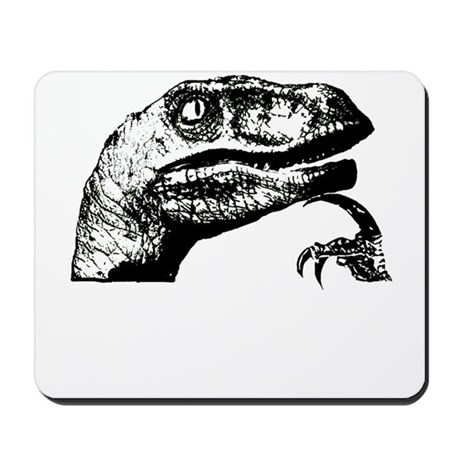 Philosorapter the philosopher Mousepad