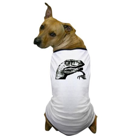 Philosorapter the philosopher Dog T-Shirt