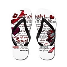 Twilight Quotes Flip Flops