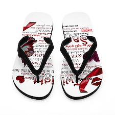 Twilight Quotes Flip Flops