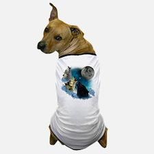 Northern Lights Wolfs Howling Dog T-Shirt